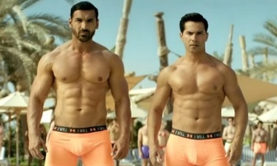 6-John-Abraham-And-Varun-Dhawan-Shows-Off-Bare-Abs-To-Woo-Their-Fans
